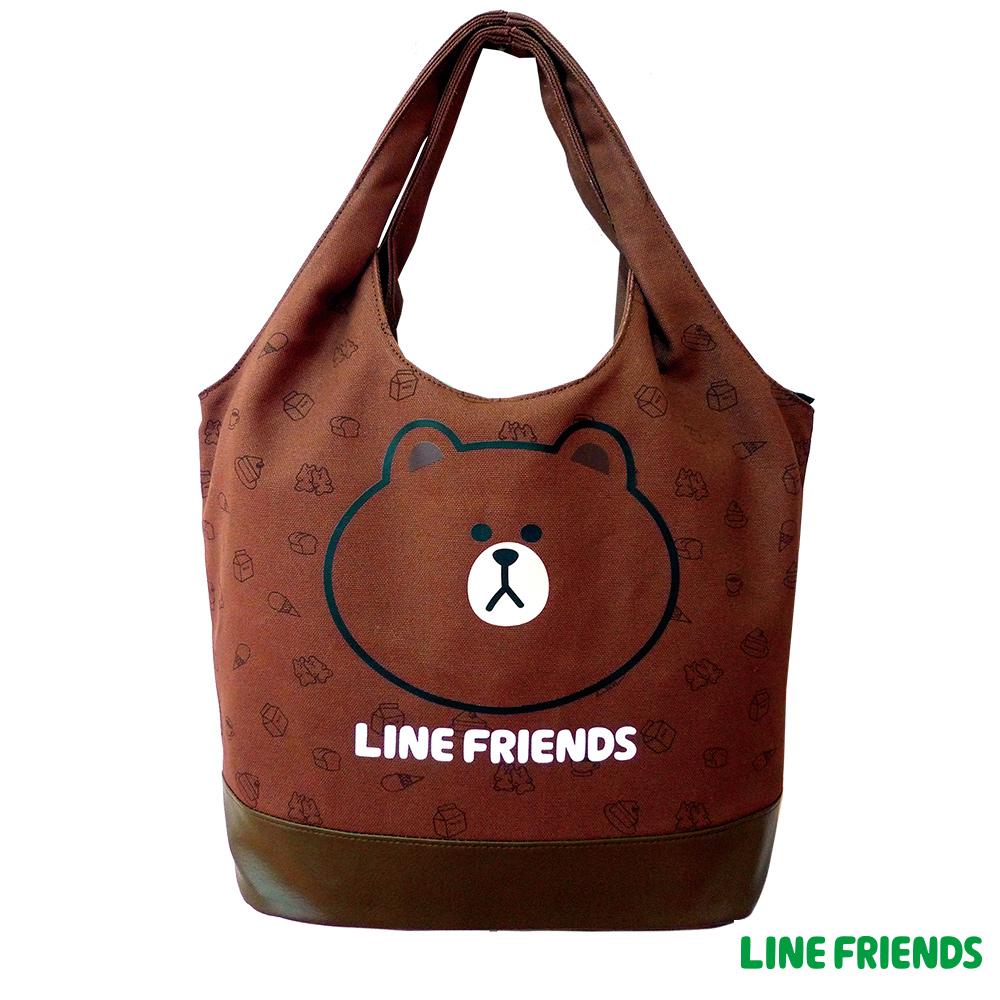 LINE FRIENDS MIT 俏麗袋(咖啡咖)LI555500A