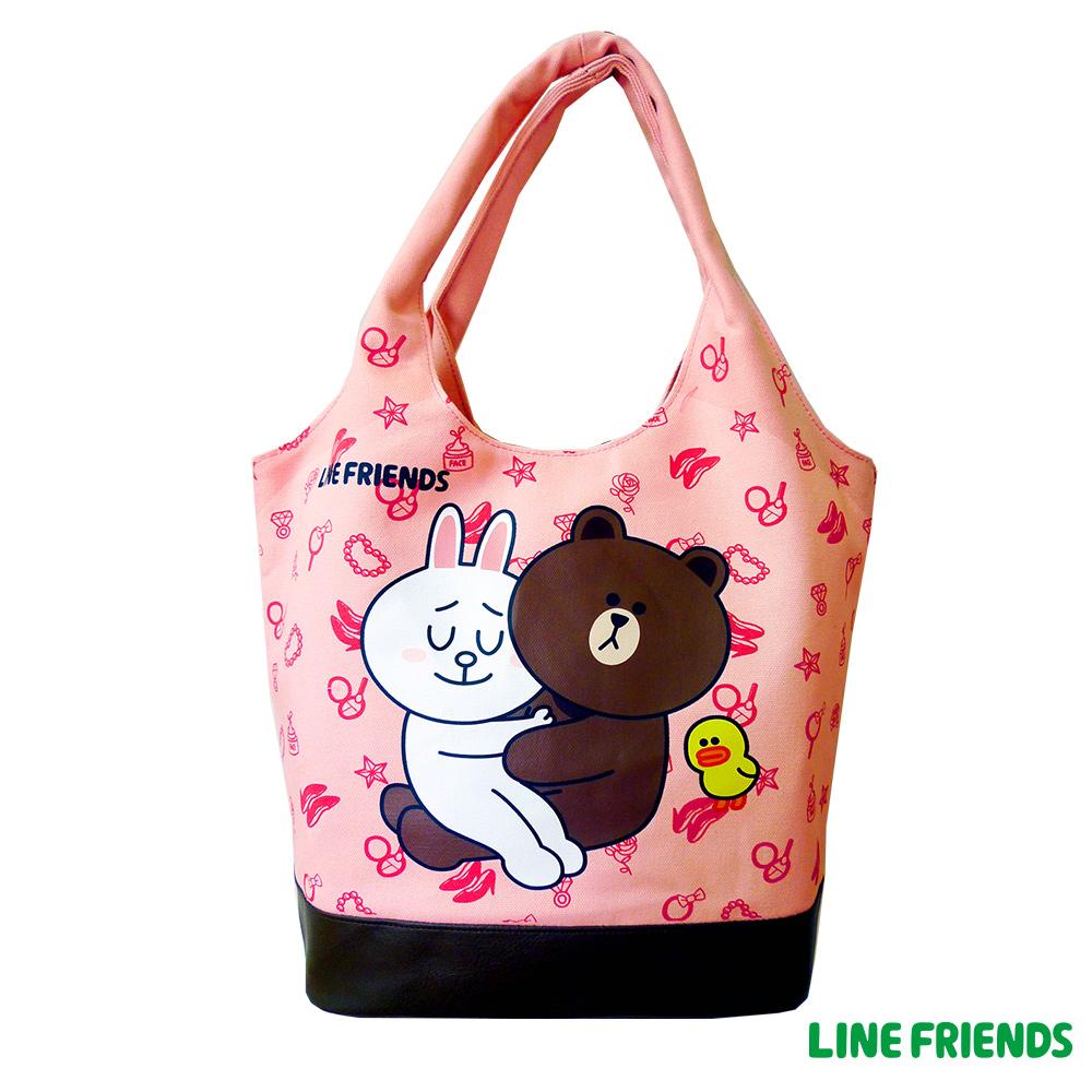 LINE FRIENDS MIT 俏麗袋(草莓粉)LI555500B