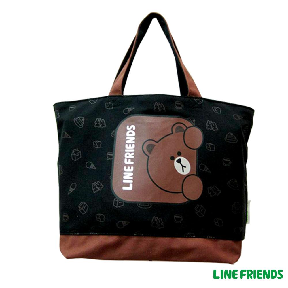 LINE FRIENDS  托特袋(黑)LI554900A