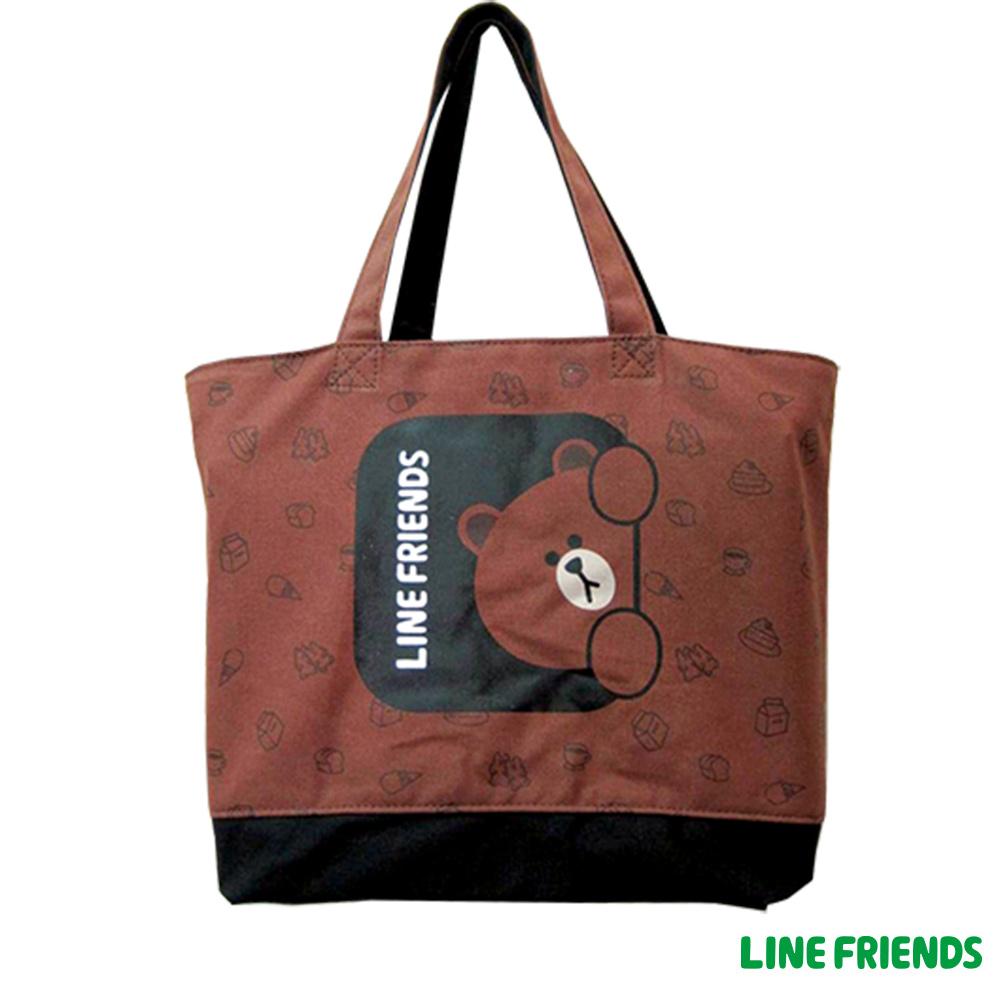 LINE FRIENDS  托特袋(咖)LI554900B