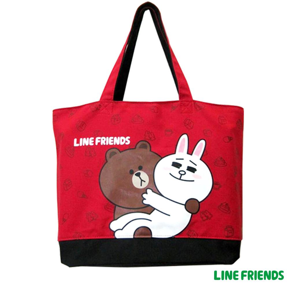 LINE FRIENDS  托特袋(紅)LI554900C