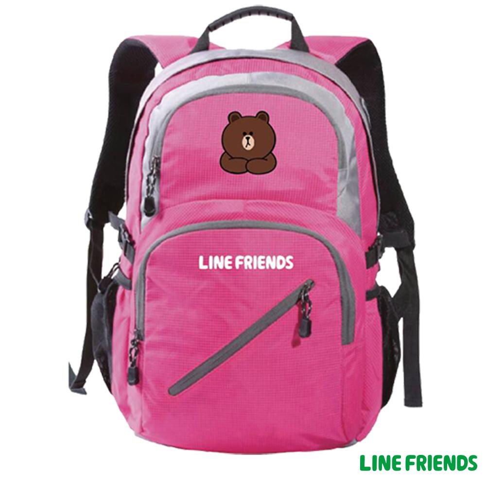 LINE FRIENDS 運動休閒後背包(桃)LI558600B