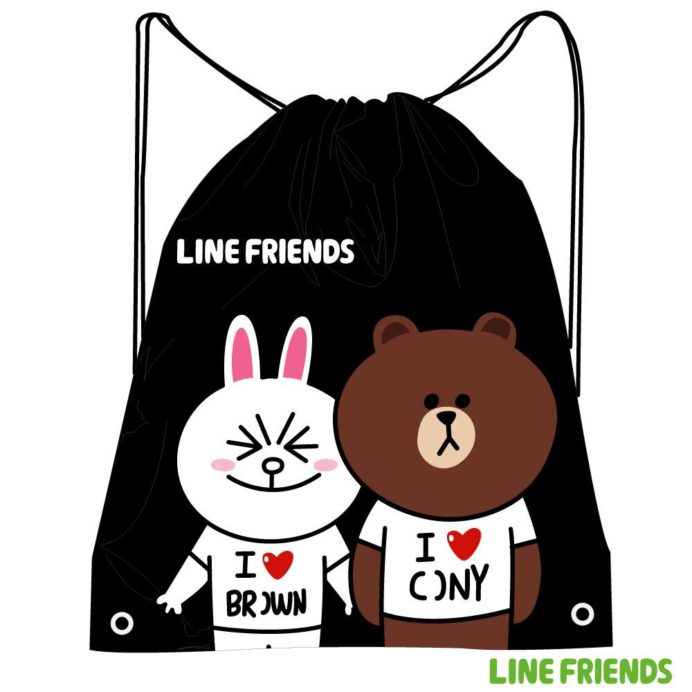 LINE FRIENDS 束口後背袋LI518000A