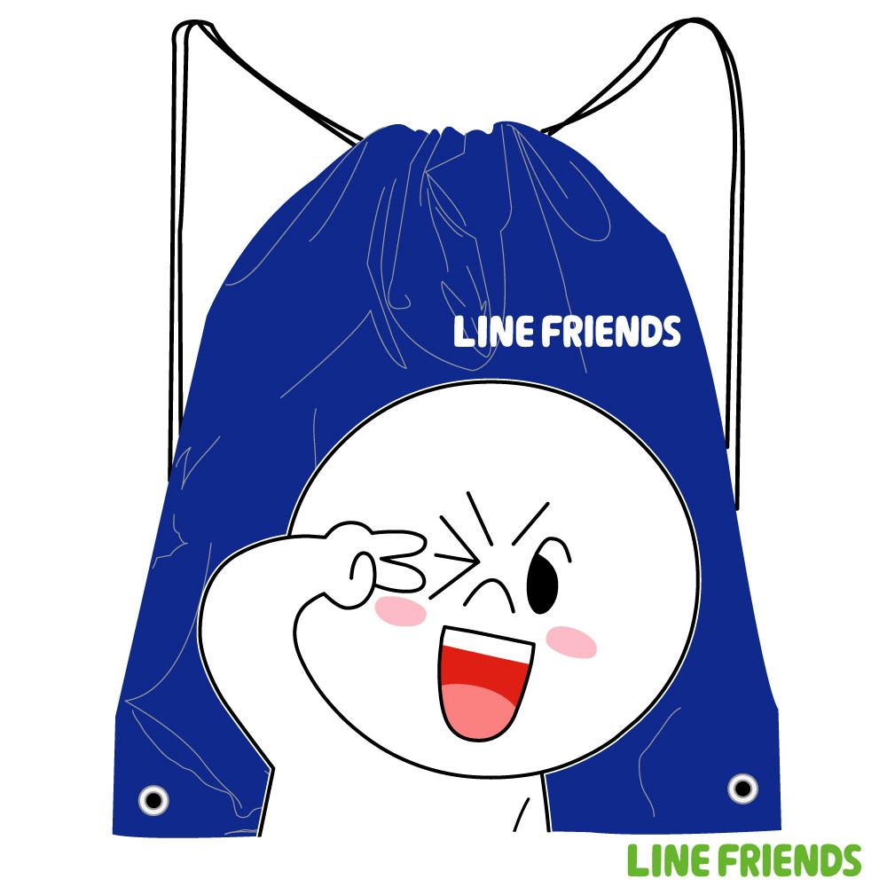 LINE FRIENDS 束口後背袋LI518000D