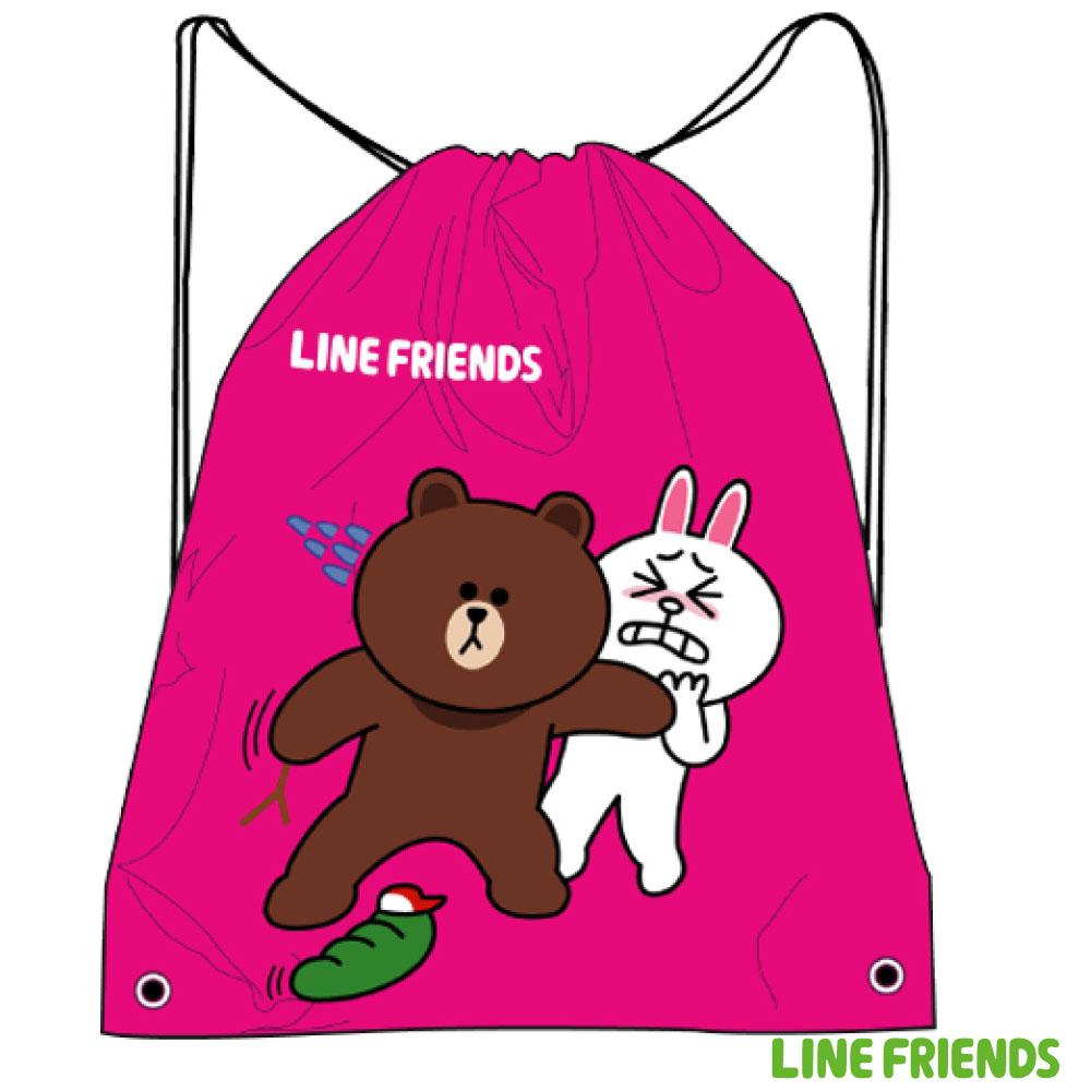 LINE FRIENDS 束口後背袋LI518000E