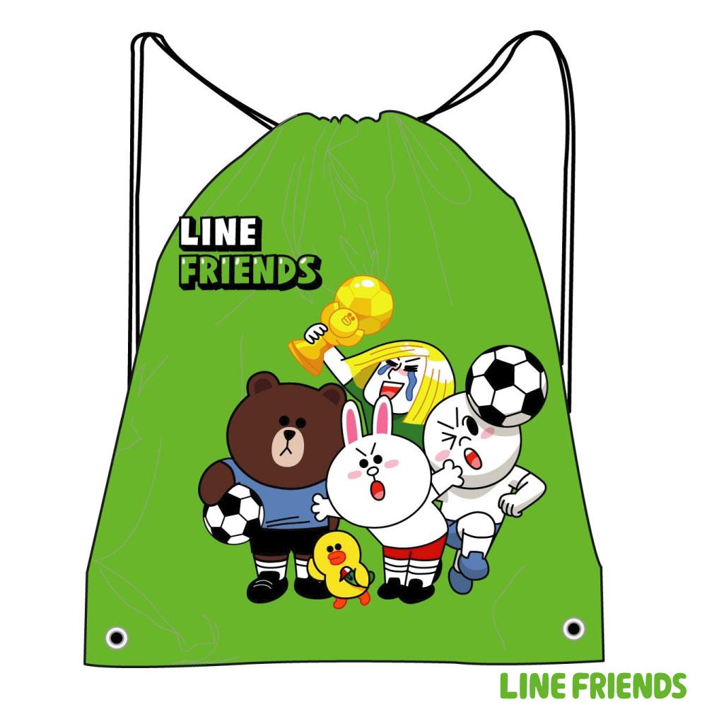 LINE FRIENDS 束口後背袋LI500C