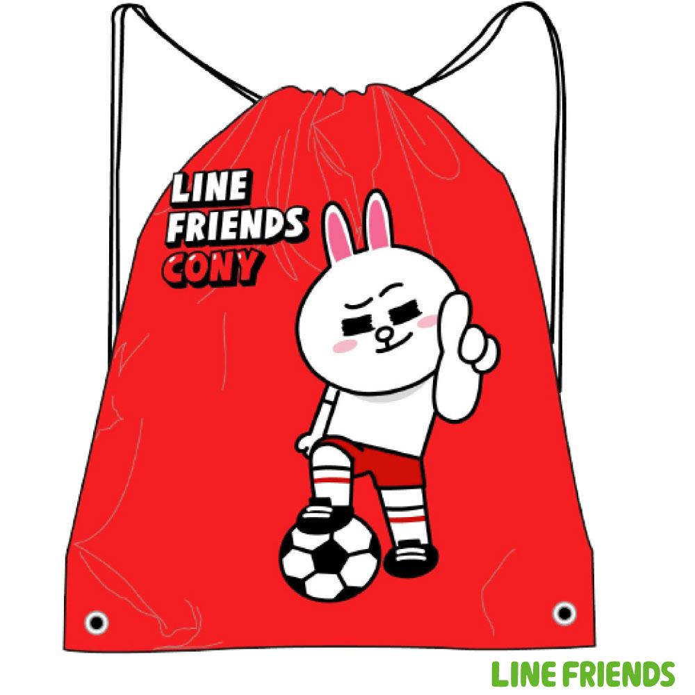 LINE FRIENDS 束口後背袋LI500D