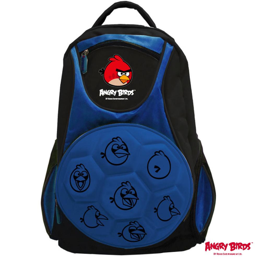 憤怒鳥足球硬殼造型護脊書包_藍AB601900B1