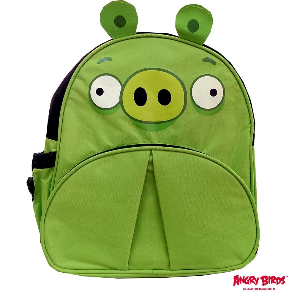 憤怒鳥造型兒童後背包_綠色小豬AB495400B