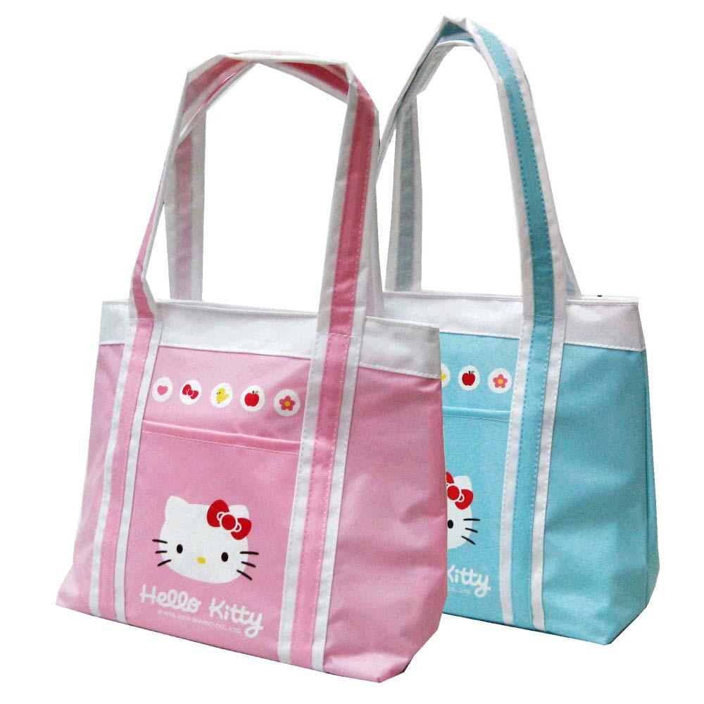 Hello Kitty 保溫/保冷防水萬用手提袋_藍綠KT390200A