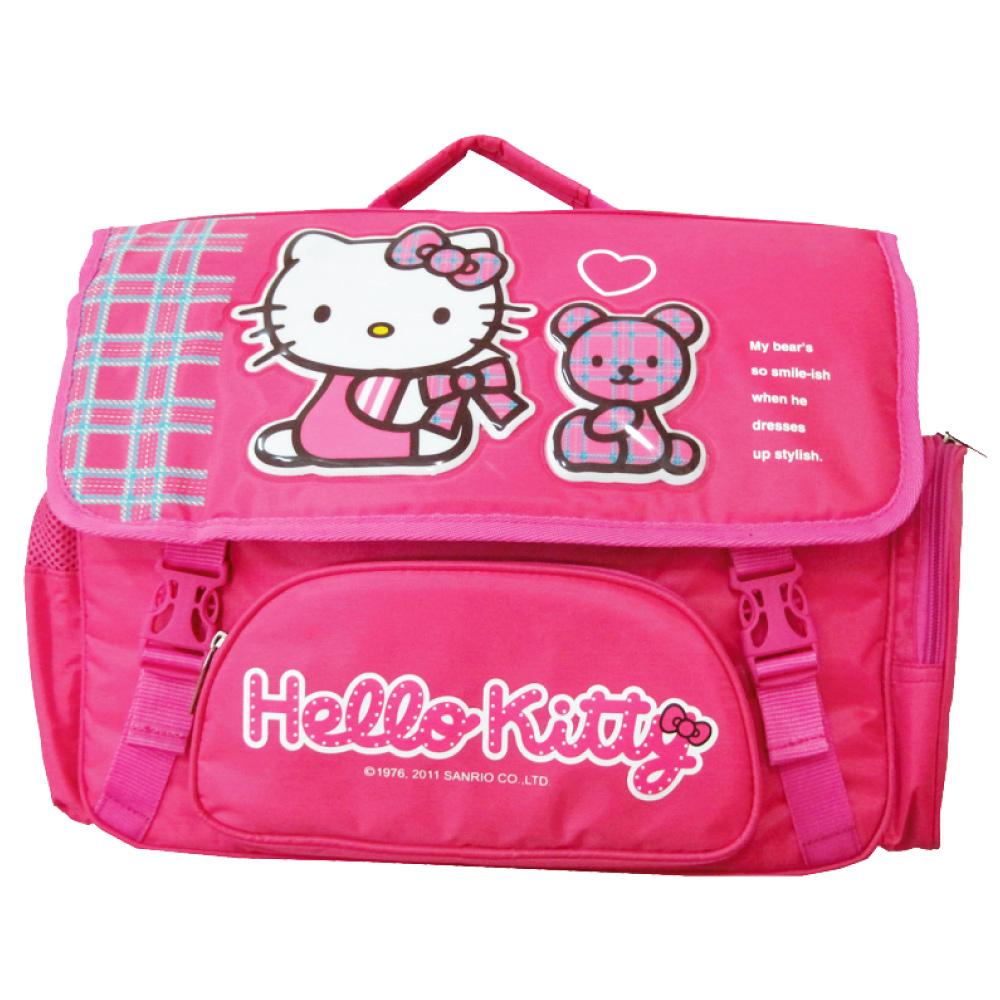 Hello Kitty 橫式造型後背書包_小熊款KT304900A