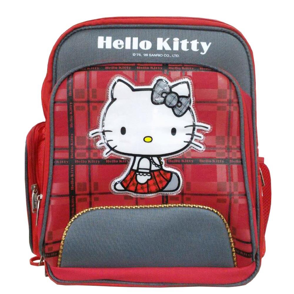 Hello Kitty 英倫風高級護脊書背包KT405300