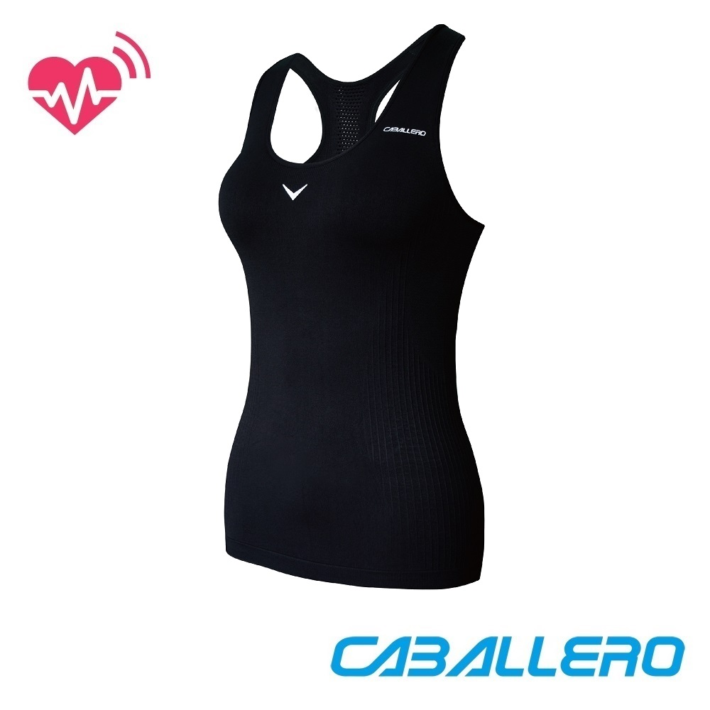 【CABALLERO 機能服飾】女款心跳感測長版運動背心