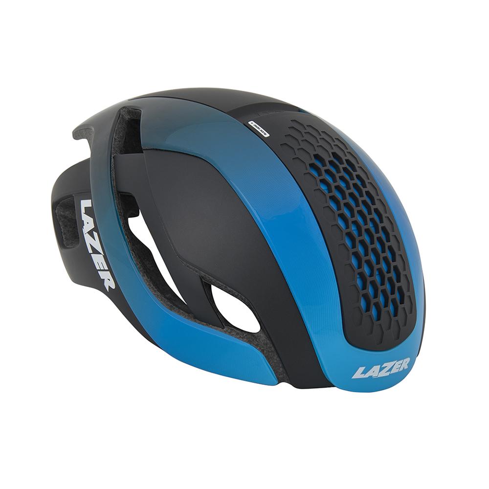 【LAZER 自行車安全帽】Bullet 空氣力學安全帽 黑/漸層藍色