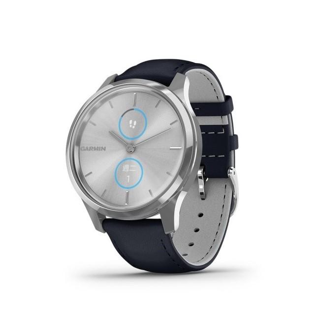 【GARMIN】 vivomove Luxe 指針智慧腕錶 皮革錶帶