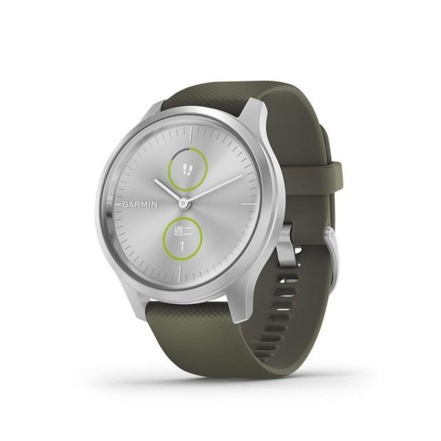 【GARMIN】vivomove Style 指針智慧腕錶 矽膠錶帶
