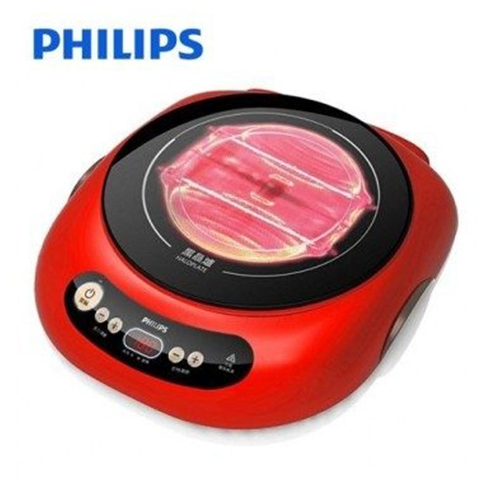 【飛利浦 PHILIPS】不挑鍋黑晶爐 (活力紅) (HD4989)