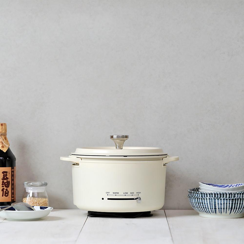 日本山善 YAMAZEN 多功能調理鍋-白色 YGD-D650TW 公司貨