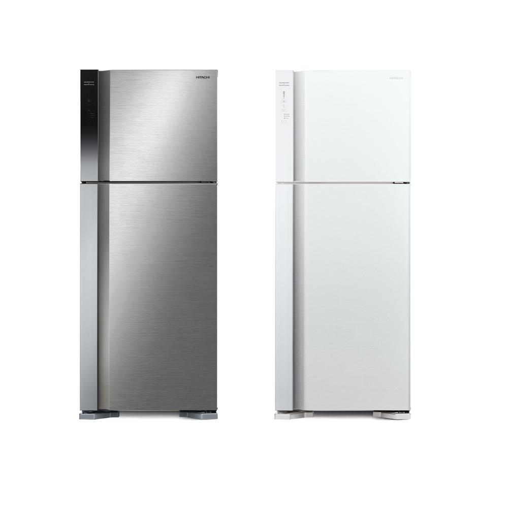 【HITACHI 日立】 460L 變頻兩門冰箱 RV469 (星燦銀/典雅白)