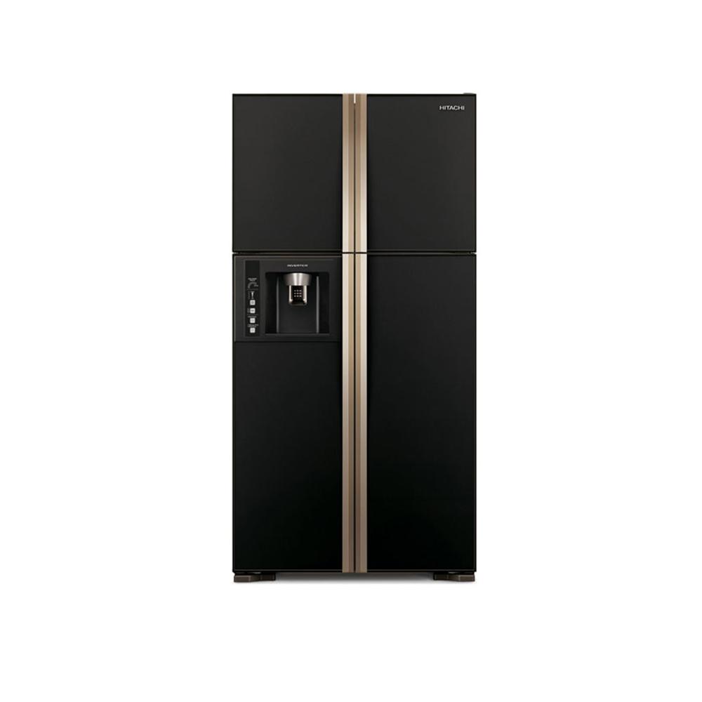 【HITACHI 日立】超大對開 594L四門變頻冰箱 RG616 (琉璃黑)