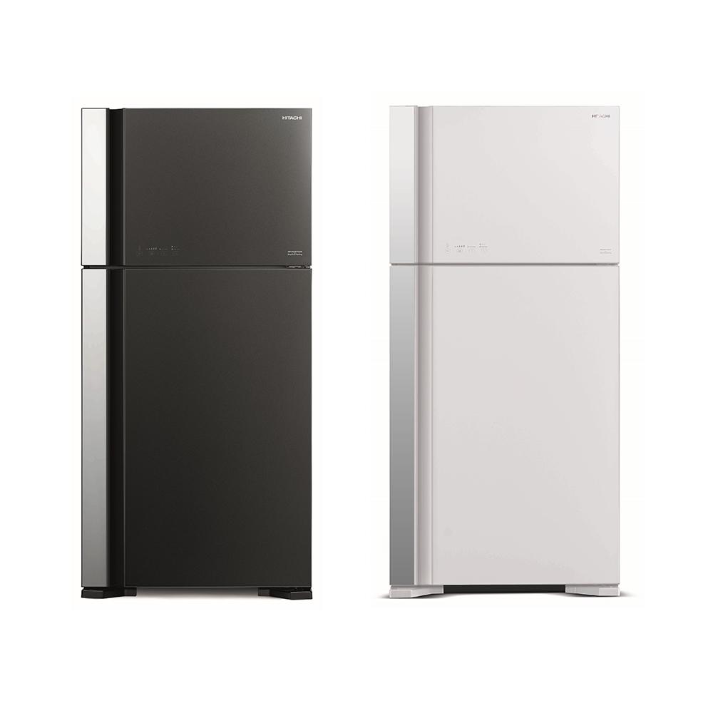 【HITACHI 日立】 雙風扇 570L變頻琉璃面板雙門冰箱 RG599B  (琉璃白/琉璃灰)