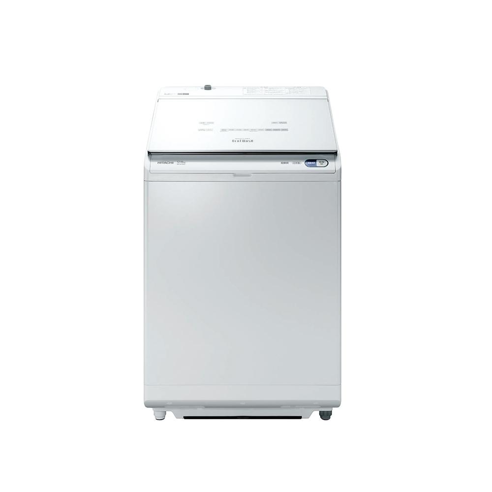 【HITACHI 日立】12公斤 日製AI洗劑自動投入洗脫烘直立式洗衣機-琉璃白 (BWDX120EJ)