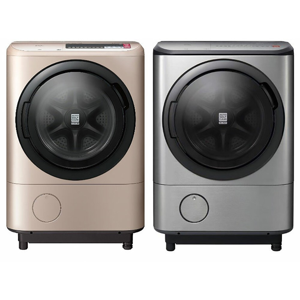 【HITACHI 日立】日本原裝 12.5kg 溫水洗脫烘滾筒洗衣機 BDNX125BHJ(香檳金/光燦銀)