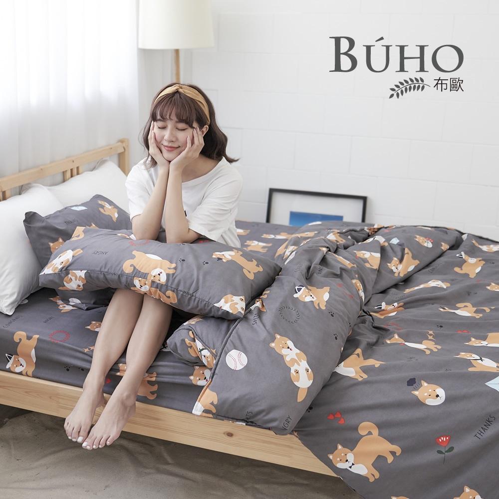 《BUHO》雙人四件式舖棉兩用被床包組 (多款任選)