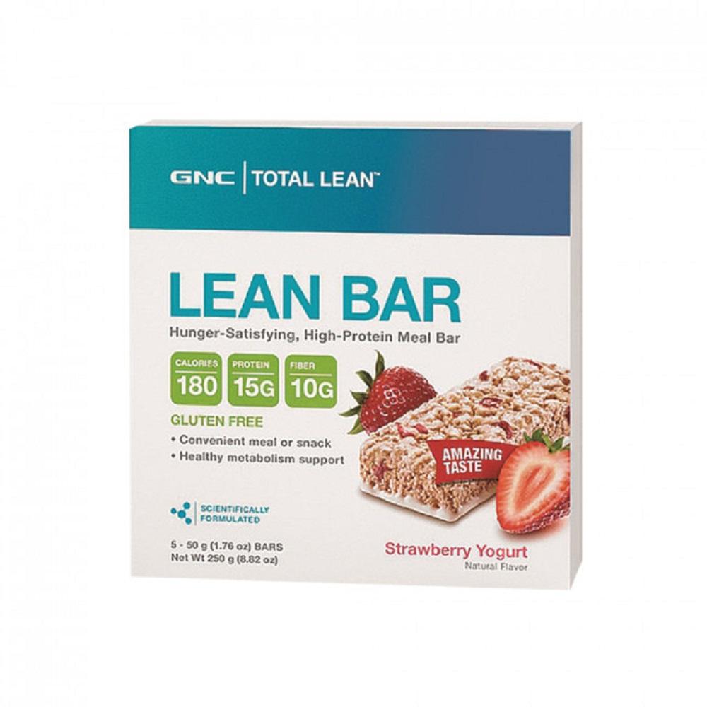【GNC健安喜】Total Lean 代餐棒-草莓優格(5入)