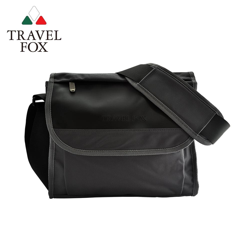 【TRAVEL FOX 旅狐】簡約商務鑽紋公事包/側背包 (TB599-01) 黑色