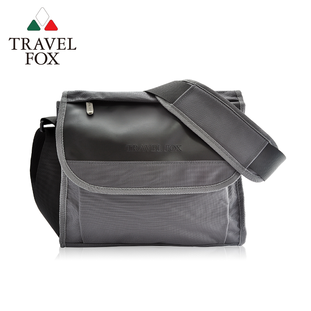 【TRAVEL FOX 旅狐】簡約商務鑽紋公事包/側背包 (TB599-13) 灰色