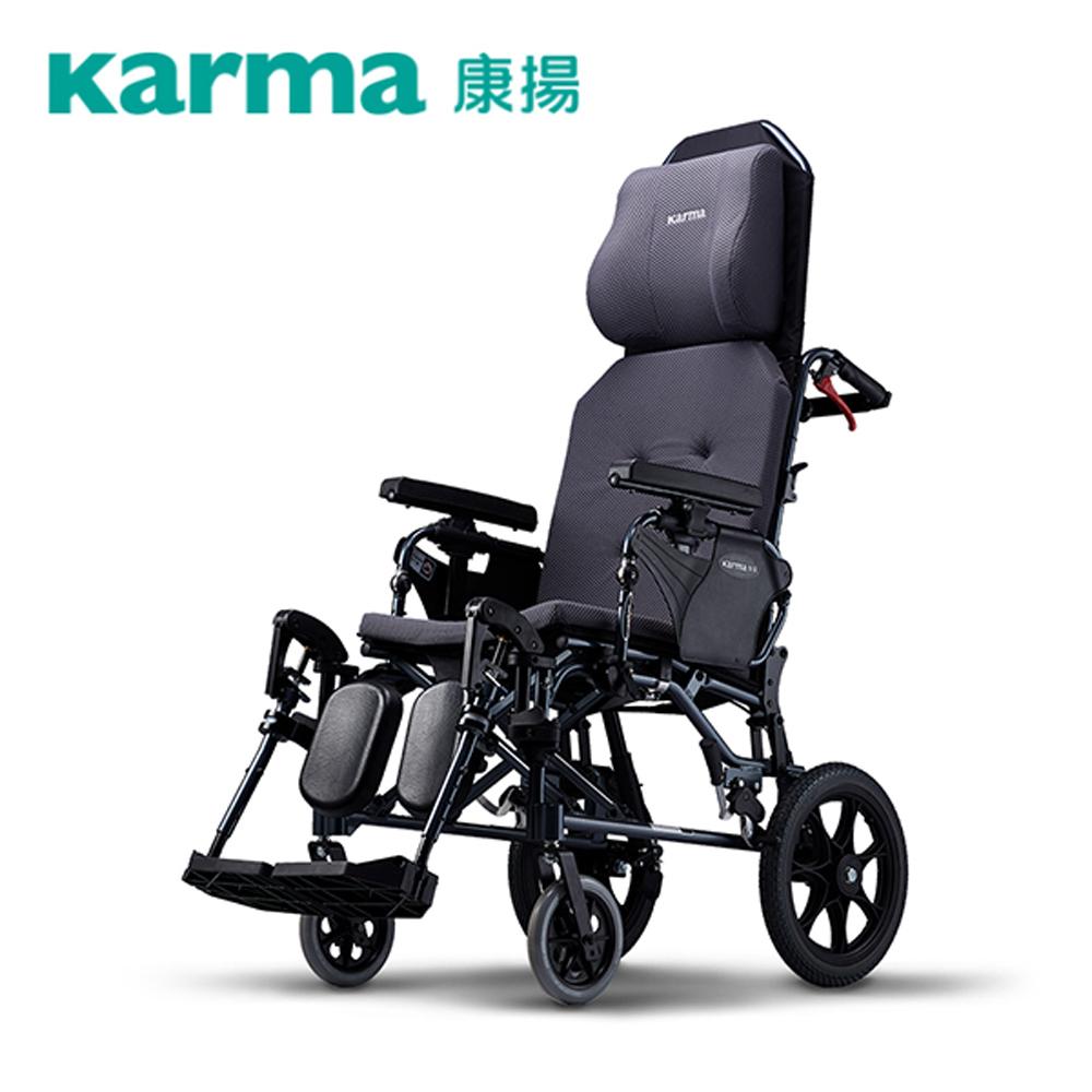 康揚 鋁合金輪椅 手動輪椅 潛隨挺502 高階照護款(座寬18吋 座深16吋 後輪14吋)
