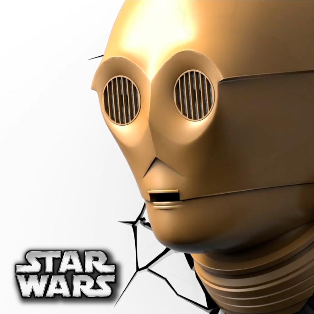 【星際大戰 STAR WARS   ▪   C3PO  ▪ 】立體造型壁燈