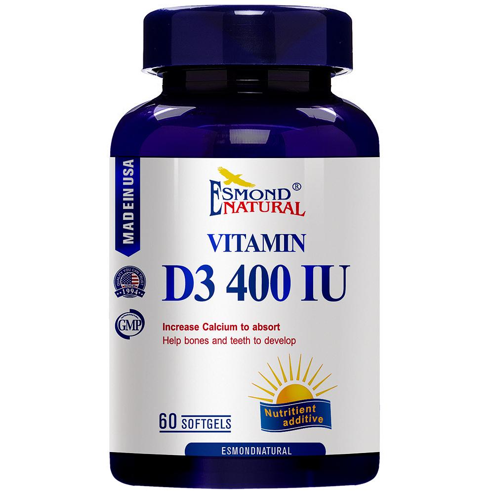 愛司盟 健康維生素D3 400IU軟膠囊60顆