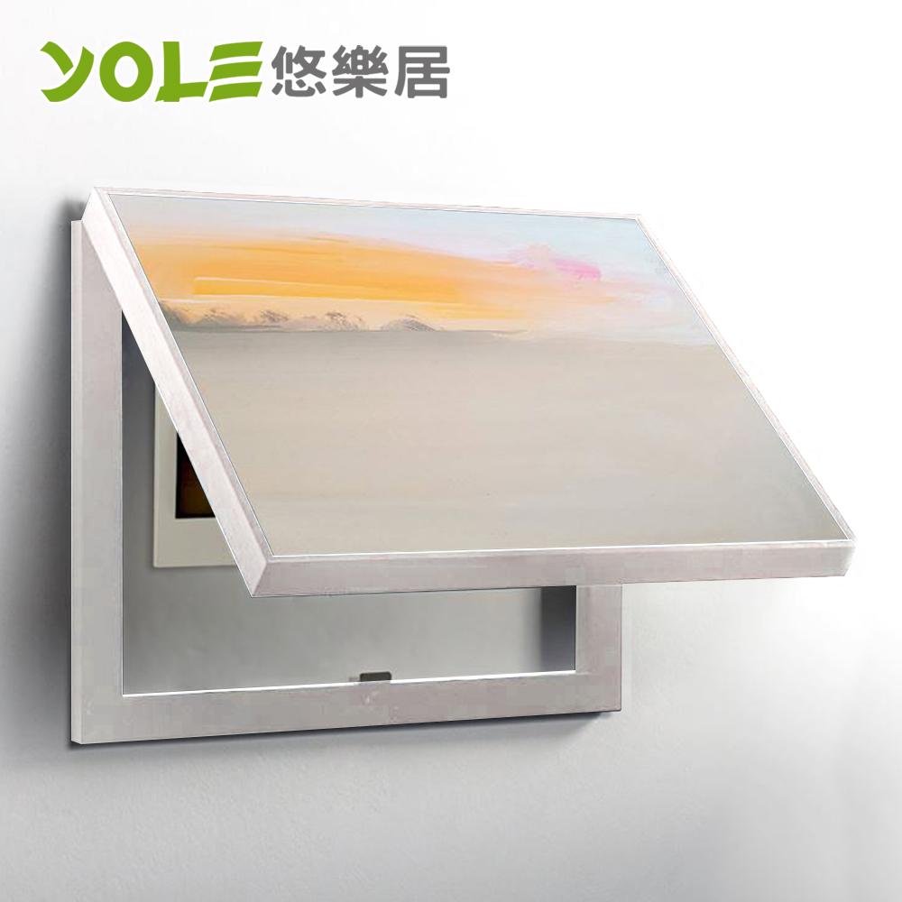 【YOLE悠樂居】電錶箱打孔油彩畫裝飾相框50*40*5cm-白(日落黃昏)#1330009-1