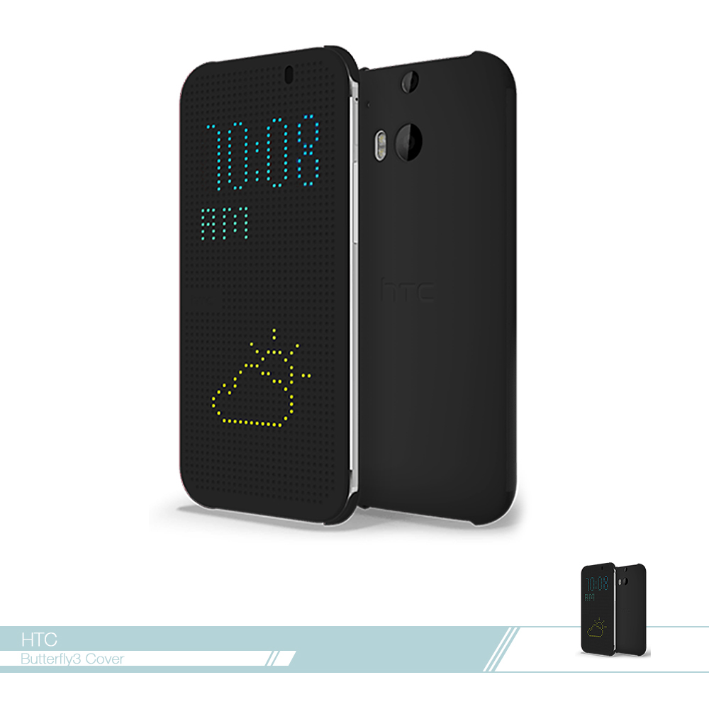 HTC 原廠Butterfly3 炫彩顯示保護套 Dot View 側掀洞洞智能皮套 翻蓋【台灣公司貨】