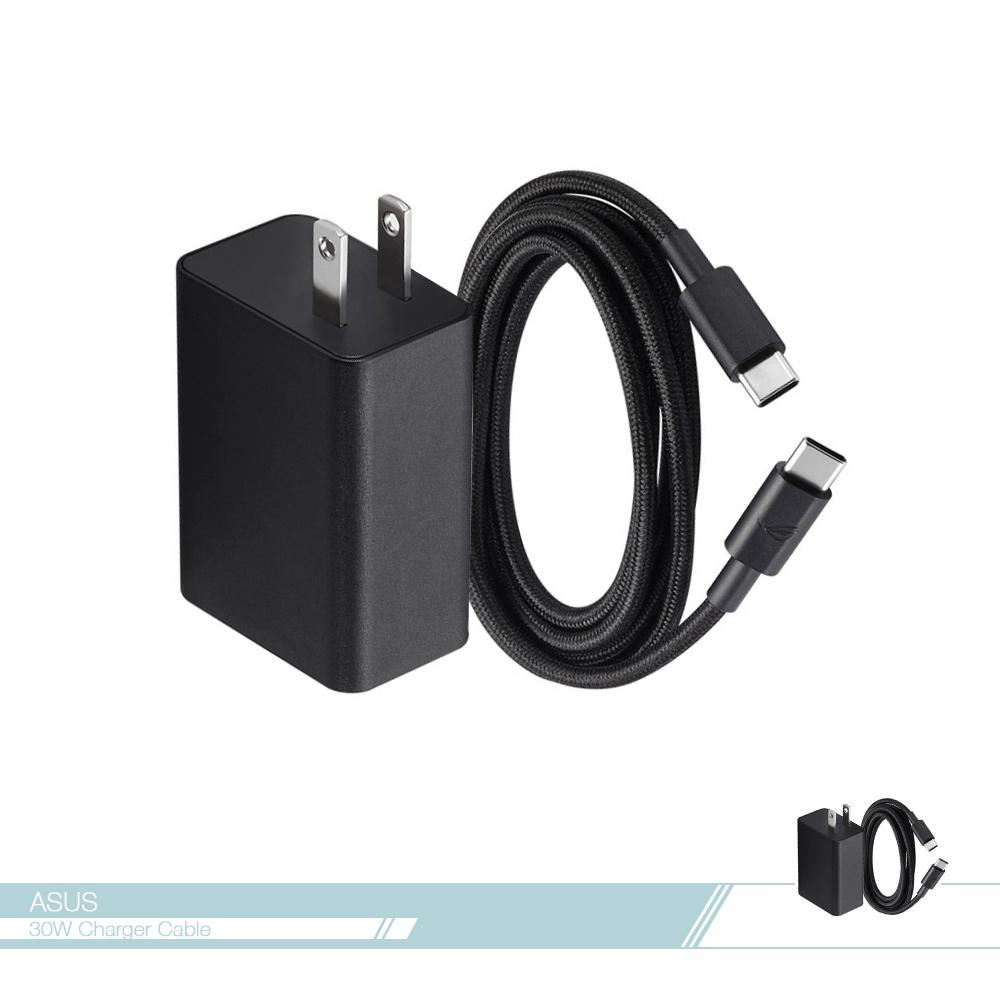 ASUS華碩 原廠 30W 快速充電器 + USB-C 傳輸線組【適用ROG Phone 1 & 2 & 3】