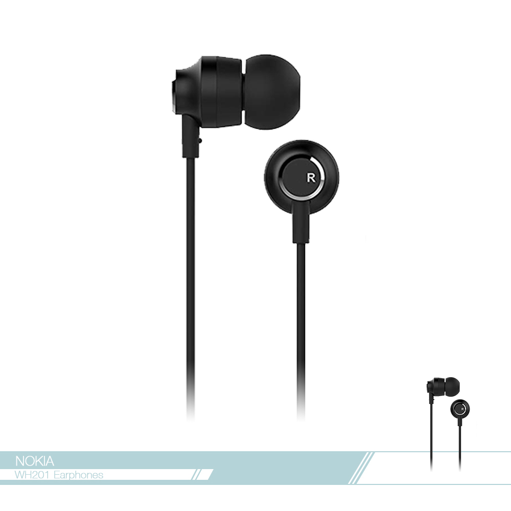NOKIA 原廠 WH-201 高品質入耳式線控耳機 (3.5mm)