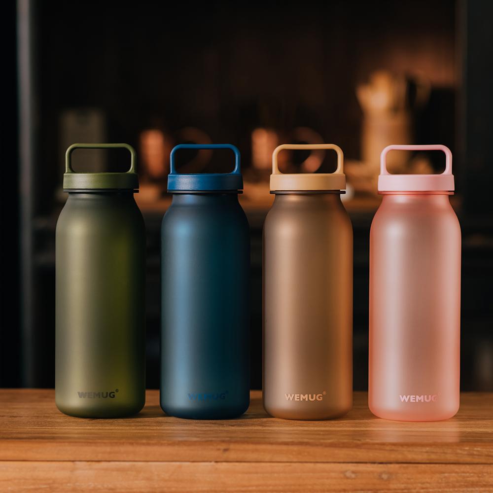 【WEMUG】大容量手提水瓶 牛奶瓶造型系列(Tritan水瓶/耐熱水瓶 620ml)