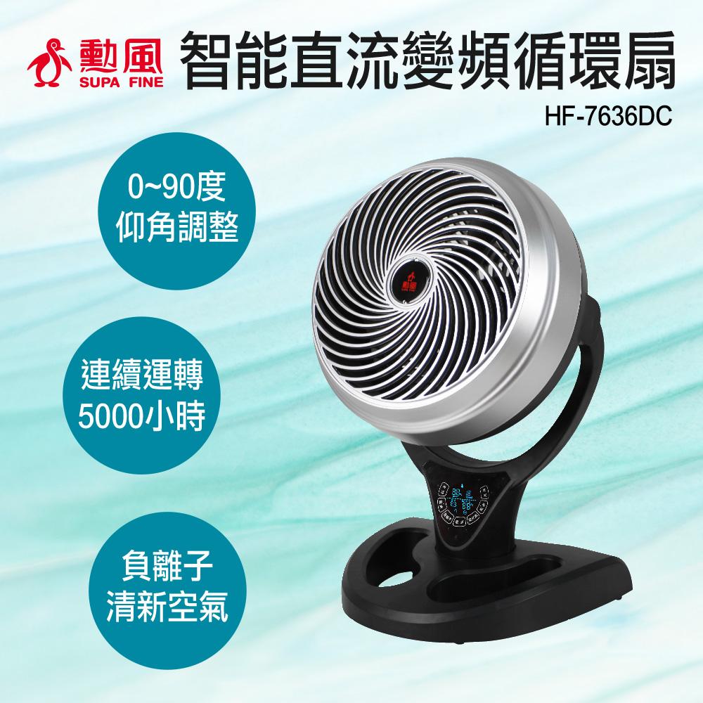 【勳風】12吋智能變頻遙控循環座扇 HF-7636DC