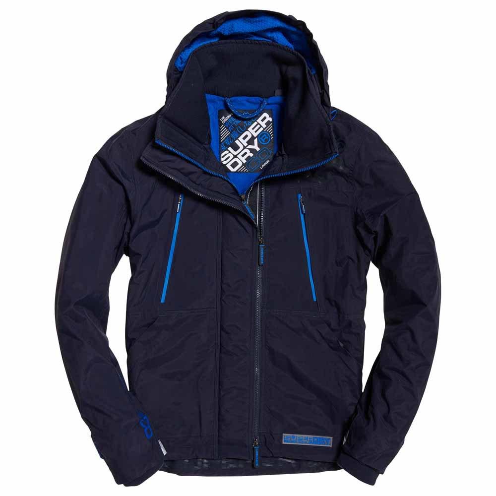 預購優惠預計3~4周出貨 Superdry 極度乾燥 男款 刷毛防風衣 防潑水雙拉鍊外套夾克 新海軍藍