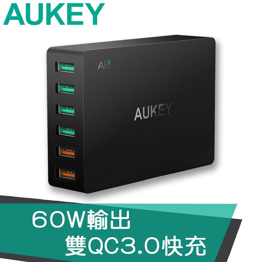 【AUKEY】PA-T11 6孔 60W QC3.0 6孔充電器