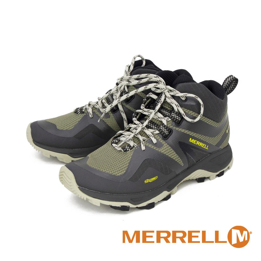 MERRELL (男) MQM FLEX 2 MID GORE-TEX高筒健走登山鞋 - 橄欖綠