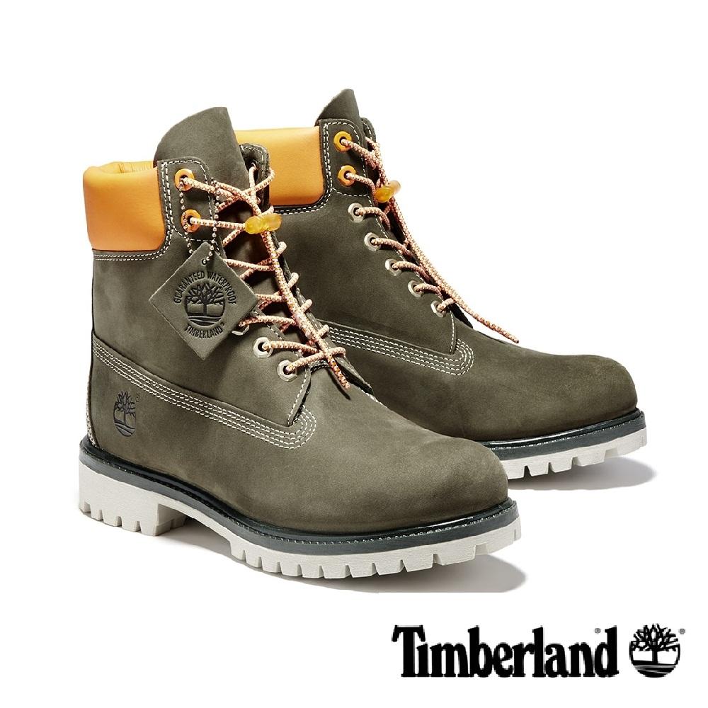 Timberland 防水磨砂革中筒靴 男鞋 - 橄欖綠