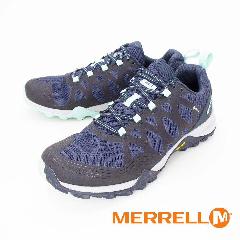 MERRELL(女) SIREN 3 GORE-TEX郊山健行鞋 女鞋 - 藍(另有灰)