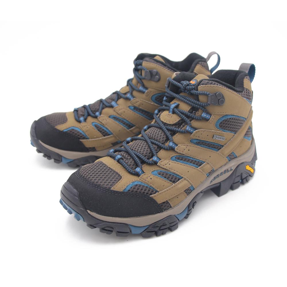 MERRELL(男) Moab 2 Mid Gore-Tex高筒郊山健行鞋 男鞋-咖