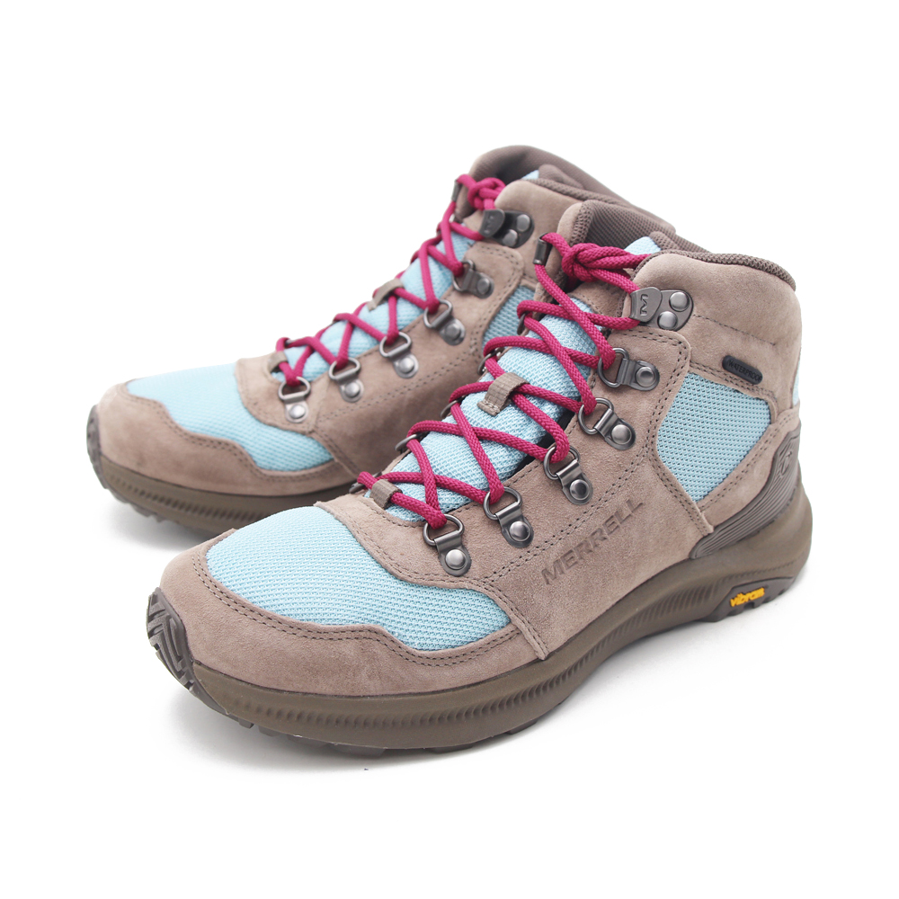 MERRELL (女)ONTARIO 85 MESH MID WATERPROOF高筒登山鞋 女鞋 - 灰藍