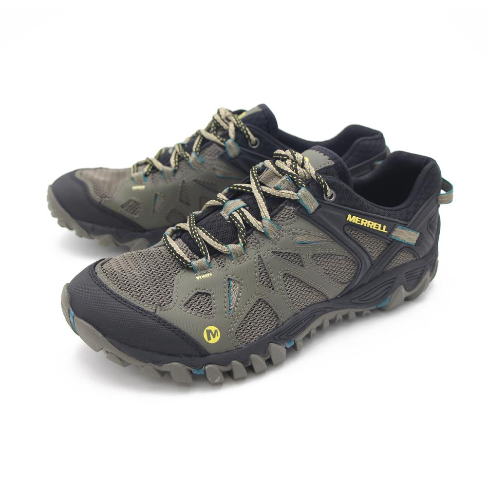 MERRELL(男)郊山健行鞋 男鞋-橄欖綠