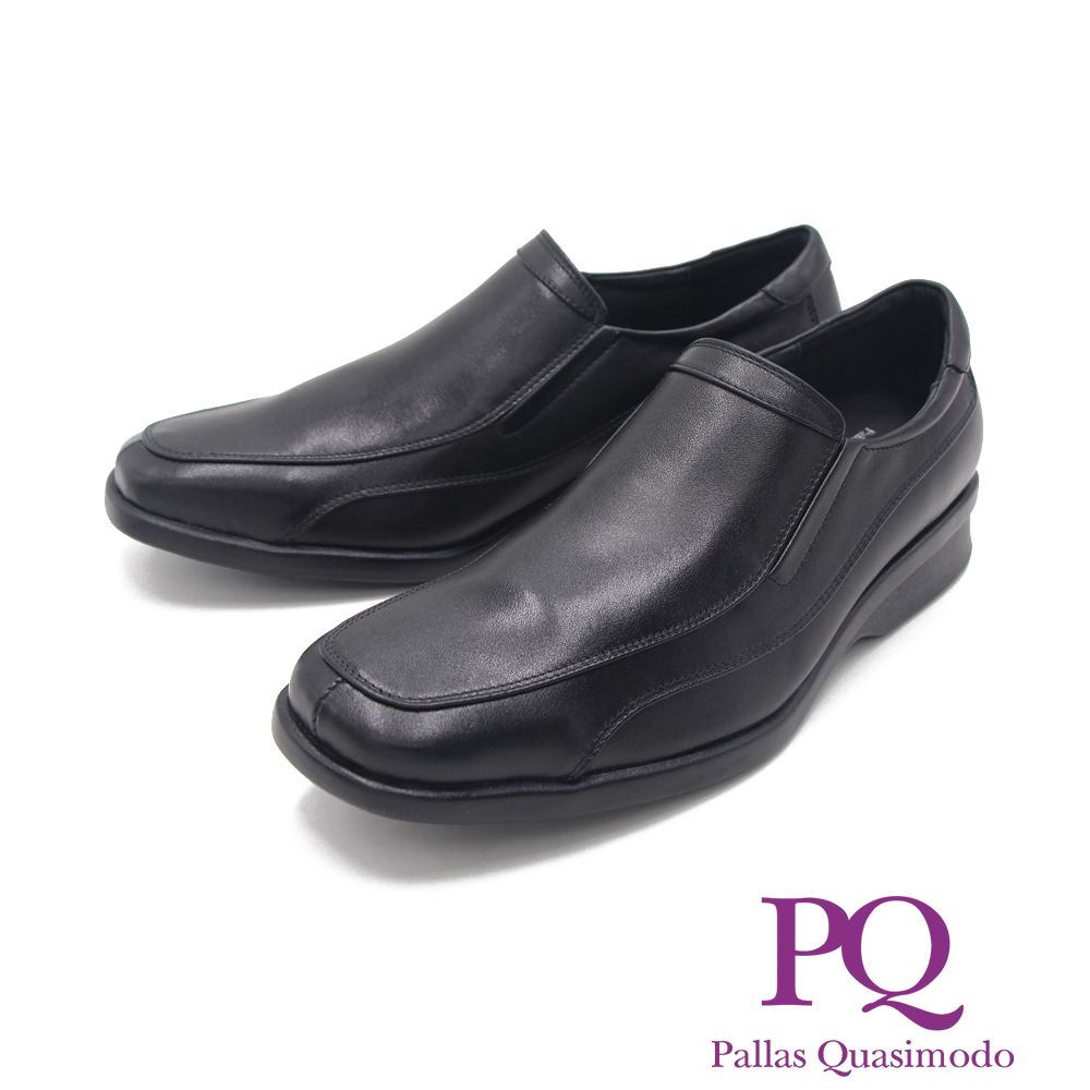 PQ (男)經典素面時尚商務男鞋-黑