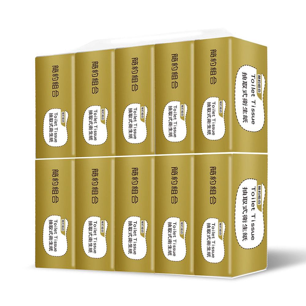 【簡約組合】優質抽取式衛生紙150抽*72包/箱(金)